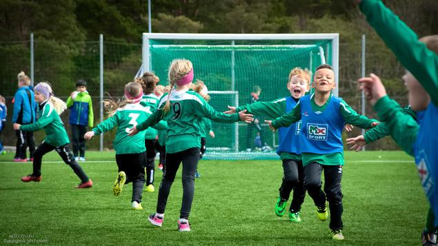 Fotballglede på Moster