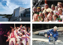 Collage med bilder frå Kraftlaget si 60 års jubileums bok