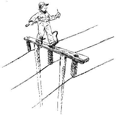 Teikning laga av Oscar Jansen av arbeid frå 50 års jubileumsboka